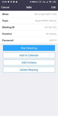 Cara Membuat Schedule Meeting di Aplikasi Zoom Android/IOS