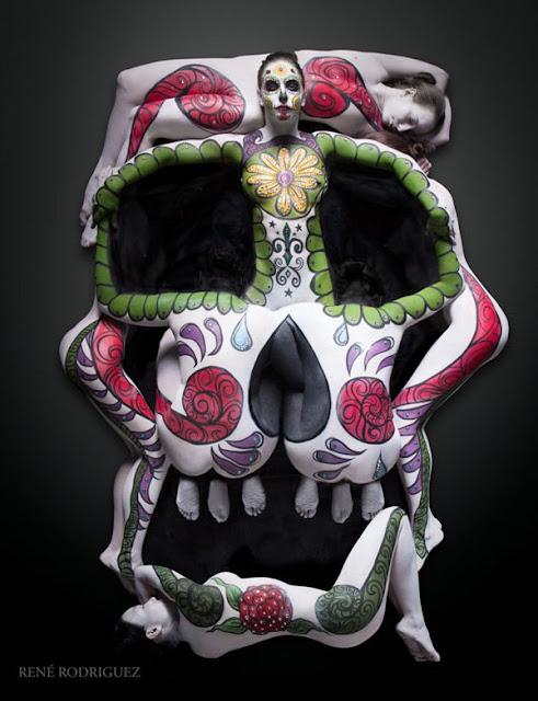 seni melukis tubuh atau body painting atau cat tubuh paling keren kreatif unik lucu dan menakjubkan-20