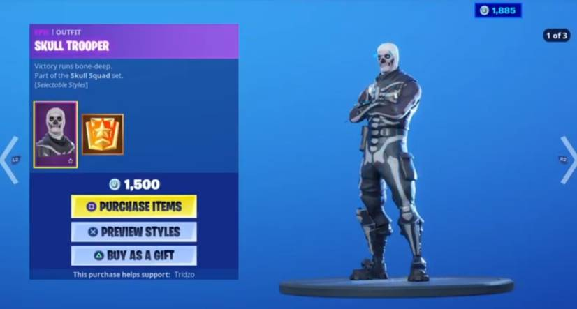 SKULL TROOPER fortnite skins