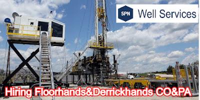 SPN Well Services Hiring 17 Rig Hands Floorhands, Derrickhand & More For Midland/Odessa area.