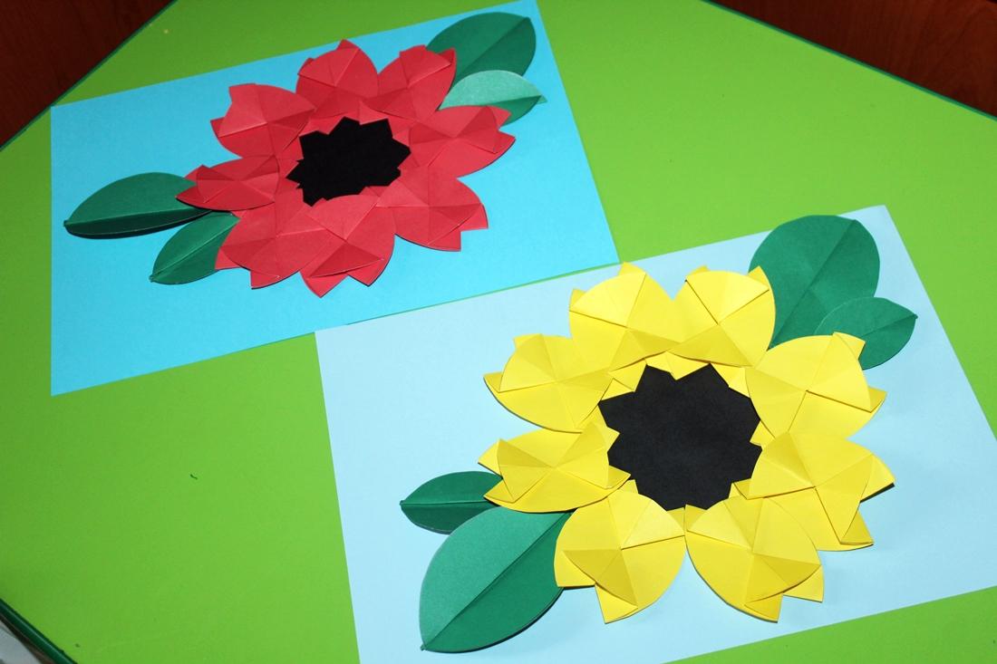 Kusiatka Papierowe Kwiaty Czyli Origami Plaskie Z Kola