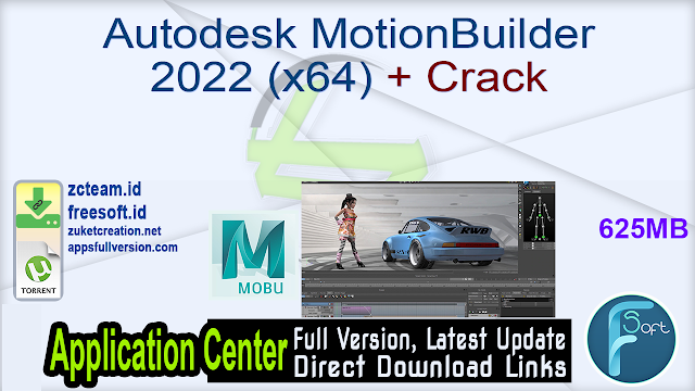 Autodesk MotionBuilder 2022 (x64) + Crack