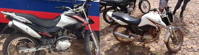 PM de Santa Quitéria e de Brejo recuperam motos roubadas
