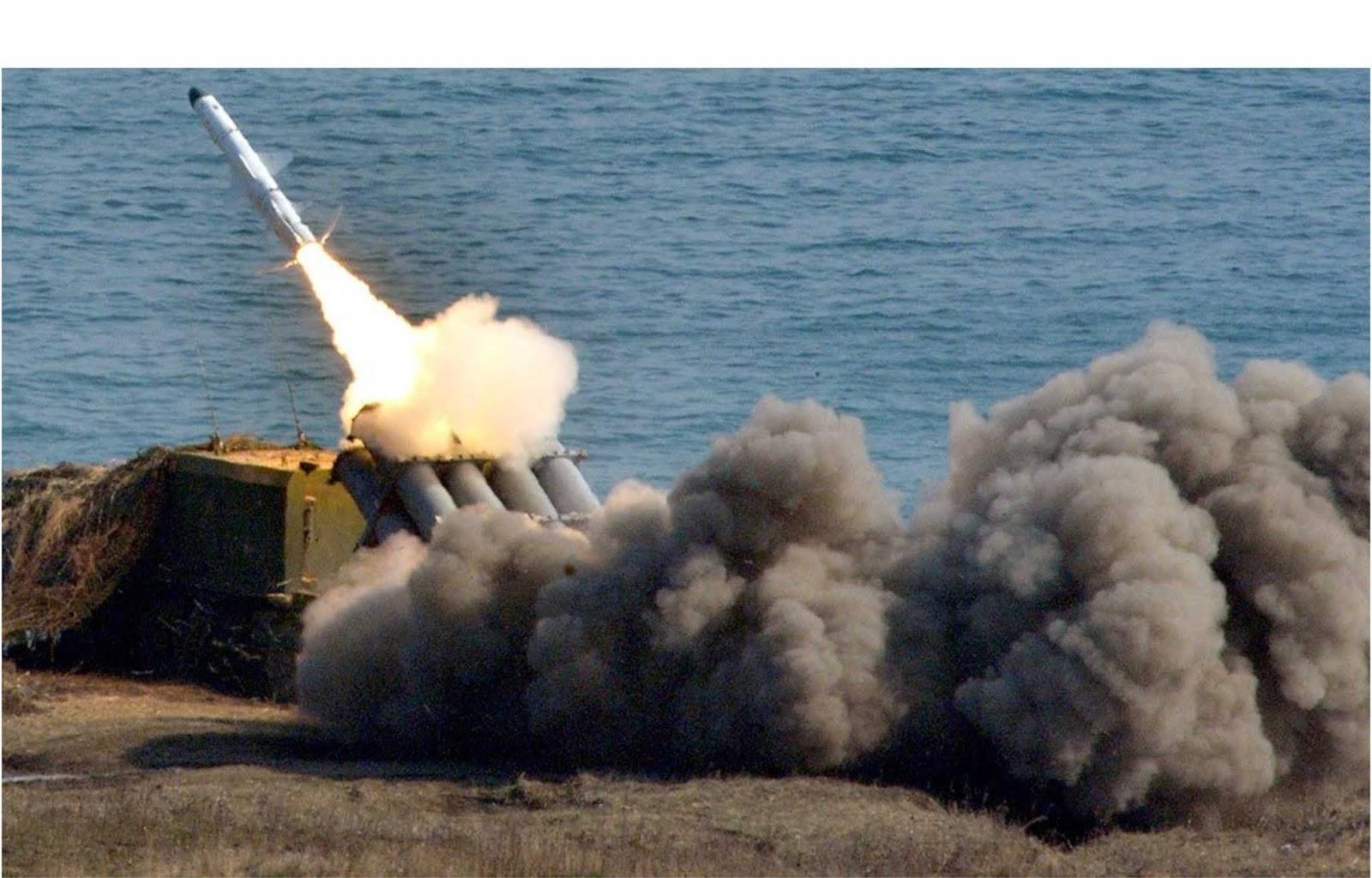 Komplek rudal pesisir Bal Rusia dibandingkan dengan Harpoon Amerika
