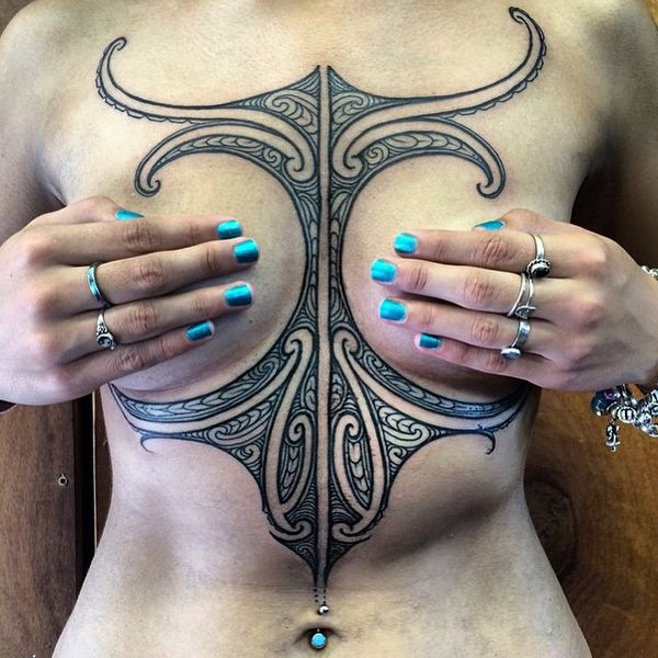 underboob-tattoo-13 18 Most Eye-Catching Underboob Tattoo Designs For Girls tattoo