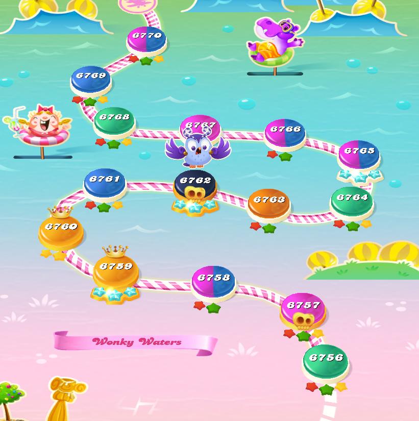 Candy Crush Saga level 6756-6770