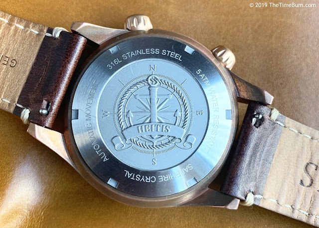 Heitis Okeanos Bronze case back