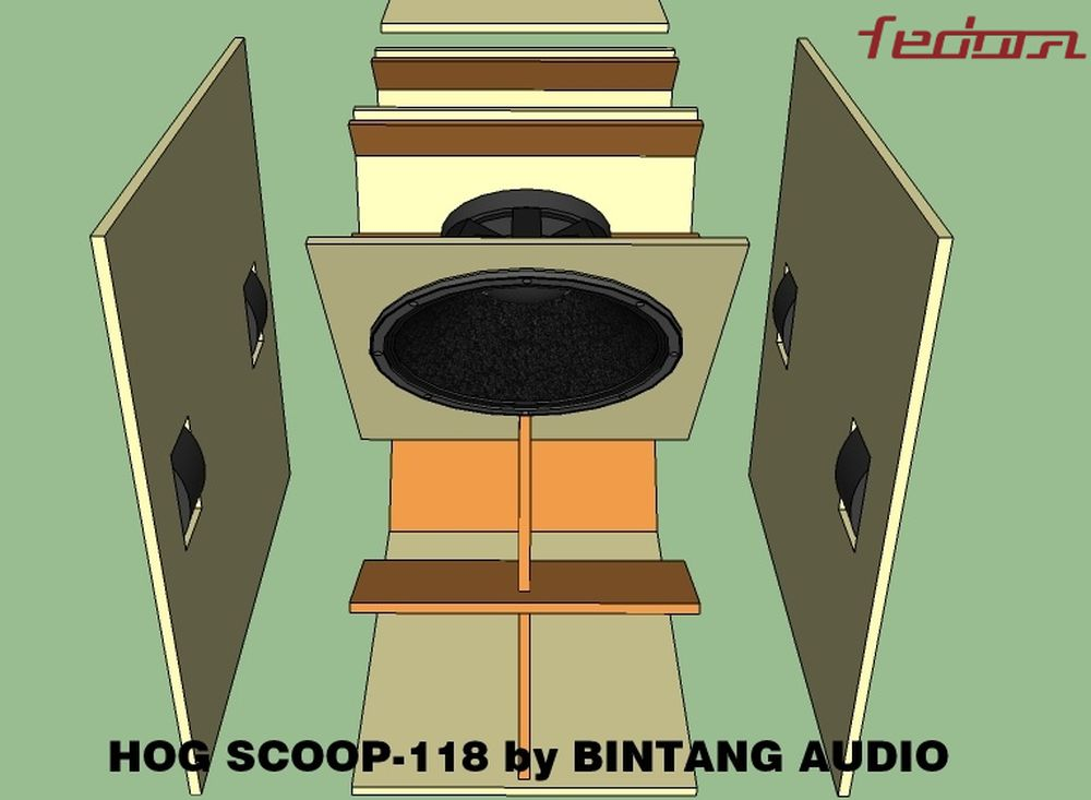 Rangka Bodi Speaker Box Hog Scoop