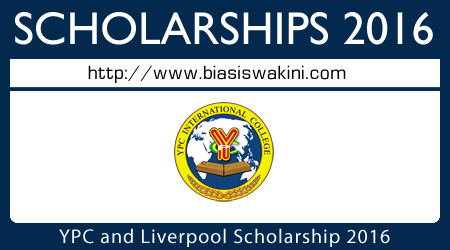 YPC-Liverpool Scholarship 2016 For Malaysian Only