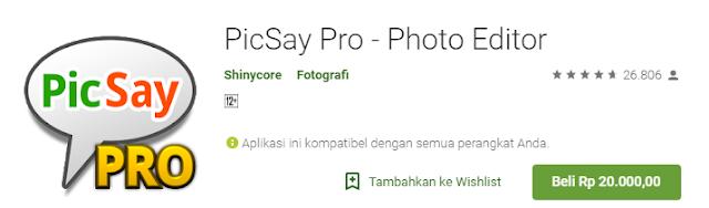 Picsay Pro - Photo Editor Mod APK Full Version Unlock Free Terbaru 2018
