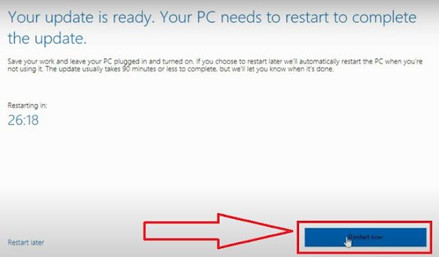 تحديث ويندوز 10 إلى الإصدار windows 10 21h1