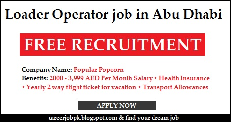 Loader Operator job in Abu Dhabi
