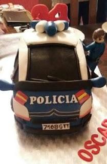 tarta-fondant-coche-policia