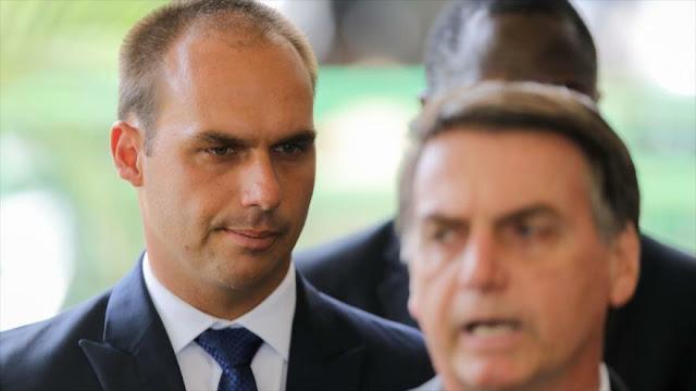 Trump elogia la polémica decisión de Bolsonaro sobre su hijo