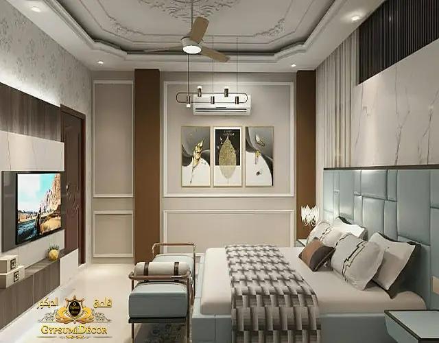 جبسيات غرف نوم | اجمل اسقف جبس غرف النوم  ناعمه وشيك