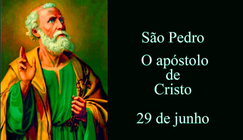 Dia de São Pedro é 29 de Junho