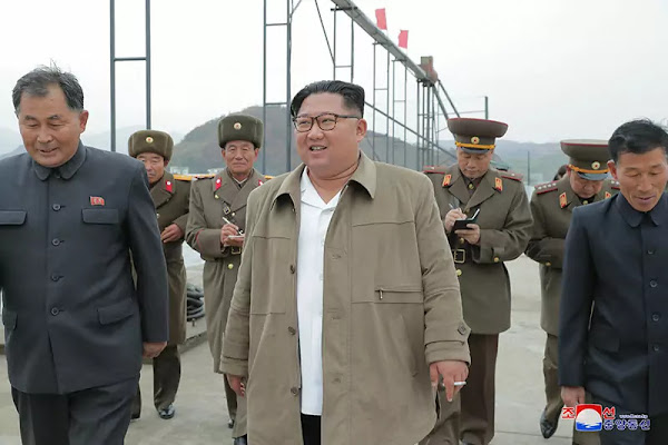 Kim Jong Un at August 25 Fishery Station, November 2019