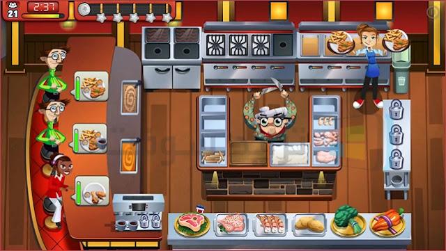 لعبة طبخ البنات كوكينج داش كاملة مجاناً