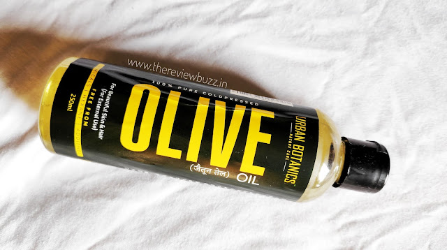 UrbanBotanics Pure Cold Pressed Olive Oil For Hair and Skin Review