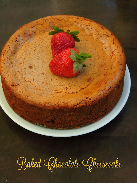 Baked Chocolate Cheesecake, Milk Chocolate Cheese cake