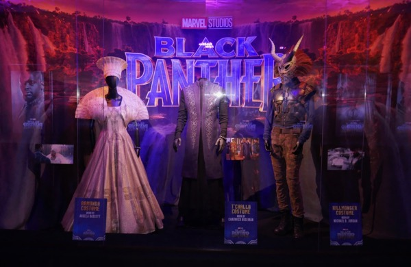 Black Panther movie costume exhibit