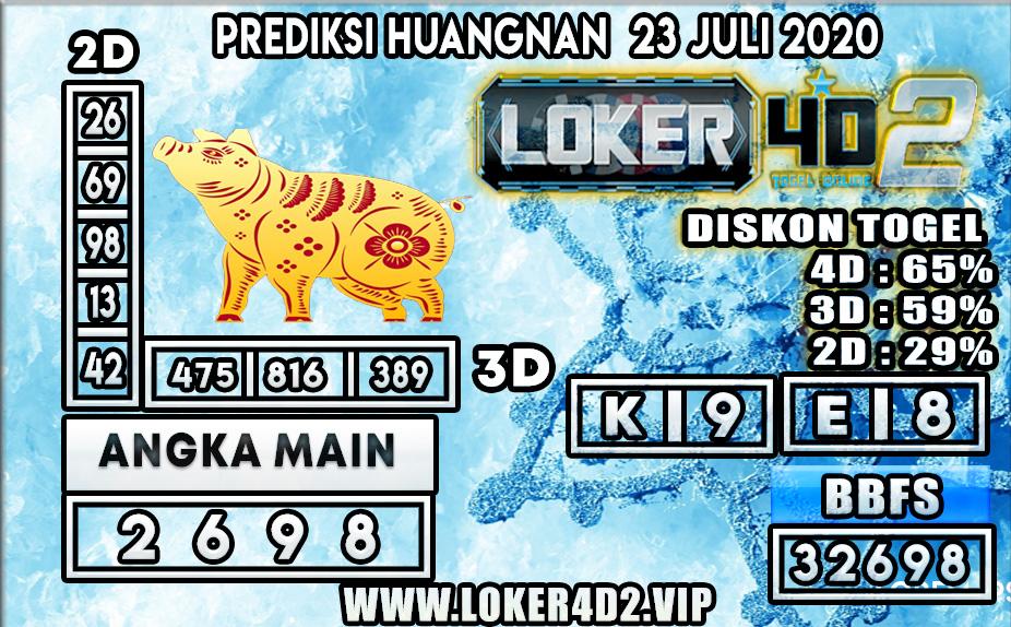 PREDIKSI TOGEL LOKER4D2 HUANGNAN 23 JULI 2020