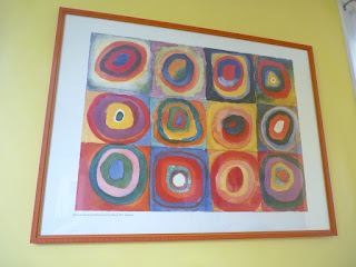 """Color study, Squares with Concentric Circles"" Print over the dining room table, ©1913 Kandinsky"