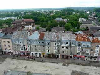 Дрогобыч. Вид на южную часть города, на площадь Рынок, улицы Завальную и Трускавецкую, на школу № 3