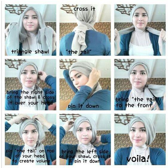 tutorial hijab kerudung paris style 2