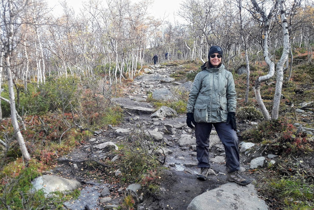Saanalla on sekä kivistä osuutta että portaat
