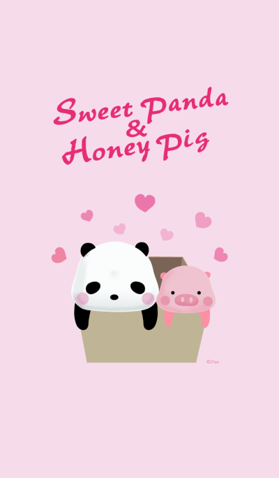 Sweet Panda & Honey Pig 04 by Ellya