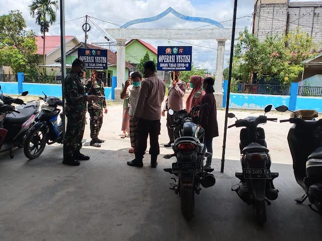 Operasi Yustisi Polsek Baamang di Masjid Ardil Akbar Baamang barat