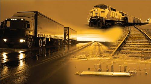 Meios de Transportes: Ferroviário, Rodoviário, Marítimo, Fluvial, Aéreo e Dutoviário