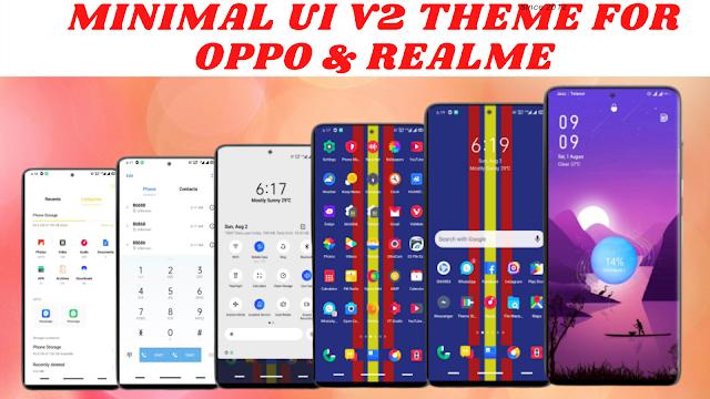 Chủ đề UI V2 tối thiểu cho oppo & realme || Hệ điều hành màu 5,6,7 & Giao diện người dùng Realme || Tất cả các thiết bị oppo & realme ||
