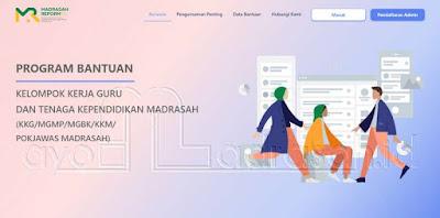 Laman Aplikasi Bantuan KKG