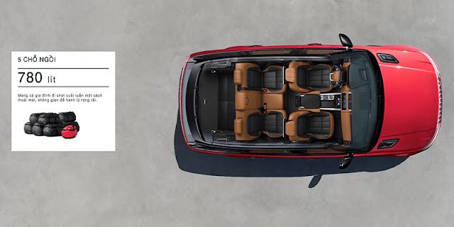 Khoang chứa đồ của Range Rover Sport 2020 có dung tích lên tới 784 lít