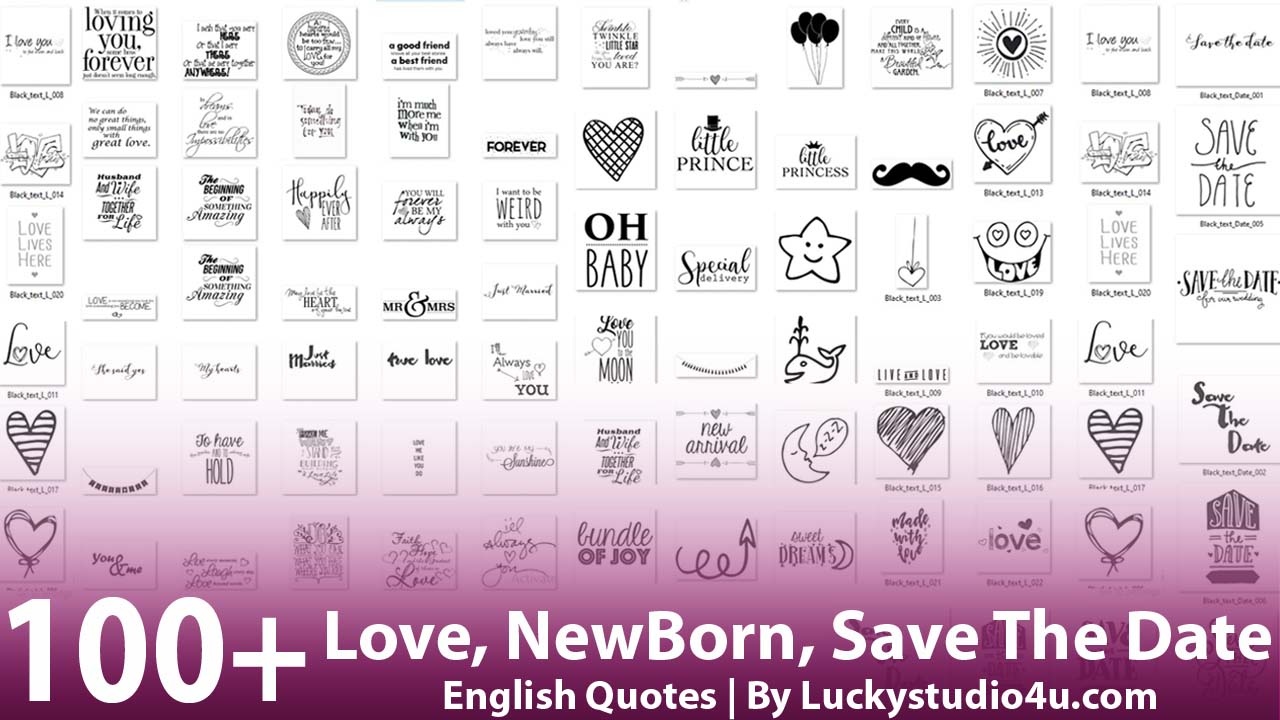 Love, NewBorn, Save The Date Quotes
