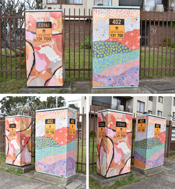 Liverpool Signal Box Art   Aboriginal Pattern