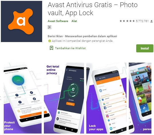 Antivirus Terbaik Untuk Android - Avast Mobile Security