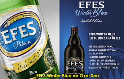 Efes Winter Blue (Kışa Özel Harman 50. Yıla Özel) ve Efes Özel Seri Bira Değerlendirmeleri