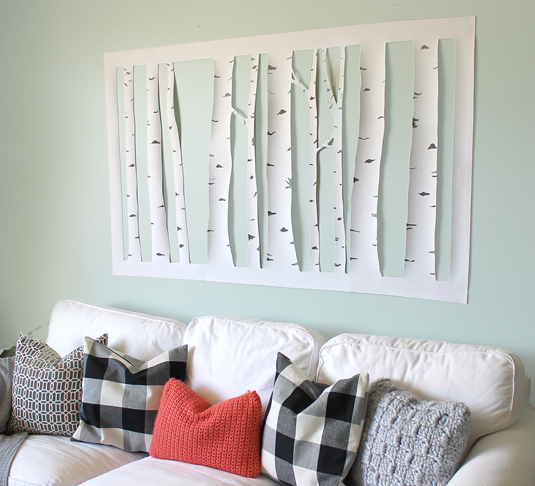 The Craft Patch Large Inexpensive DIY Aspen Tree Wall Art