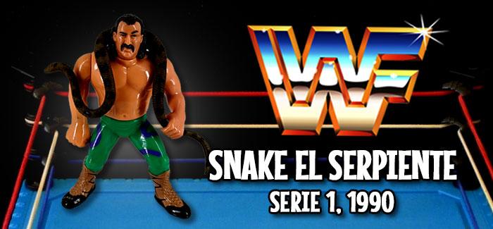 Figura Pressing Catch: Snake el serpiente (Hasbro, 1990)