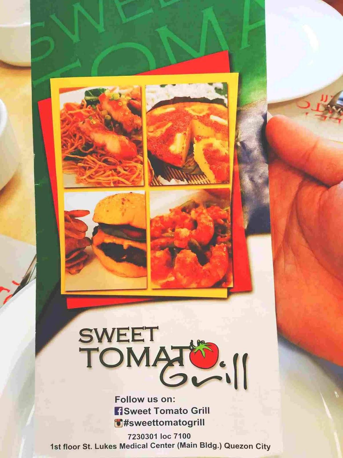 Sweet Tomato Grill menu
