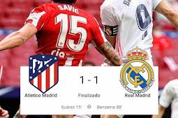 Atletico Madrid Imbang 1-1 dengan Real Madrid, Barcelona Untung di Liga Spanyol