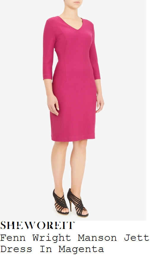 susanna-reid-fenn-wright-manson-jett-magenta-v-neck-pencil-dress