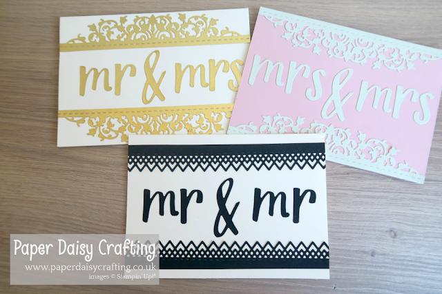 Hand lettered prose wedding card Stampin Up