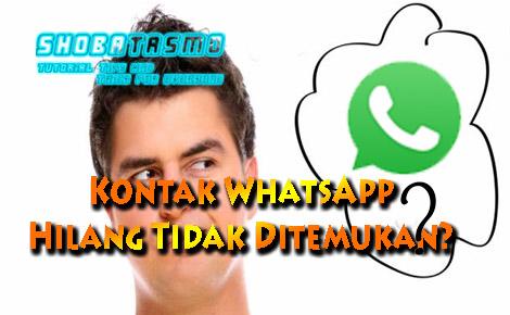 Kontak WhatsApp Hilang Tidak Ditemukan Begini Cara Mengatasinya Agar Tidak Terulang Lagi