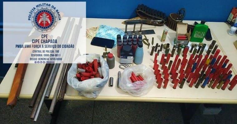 Cipe Chapada desarticula oficina clandestina de armas e munições em Iaçu