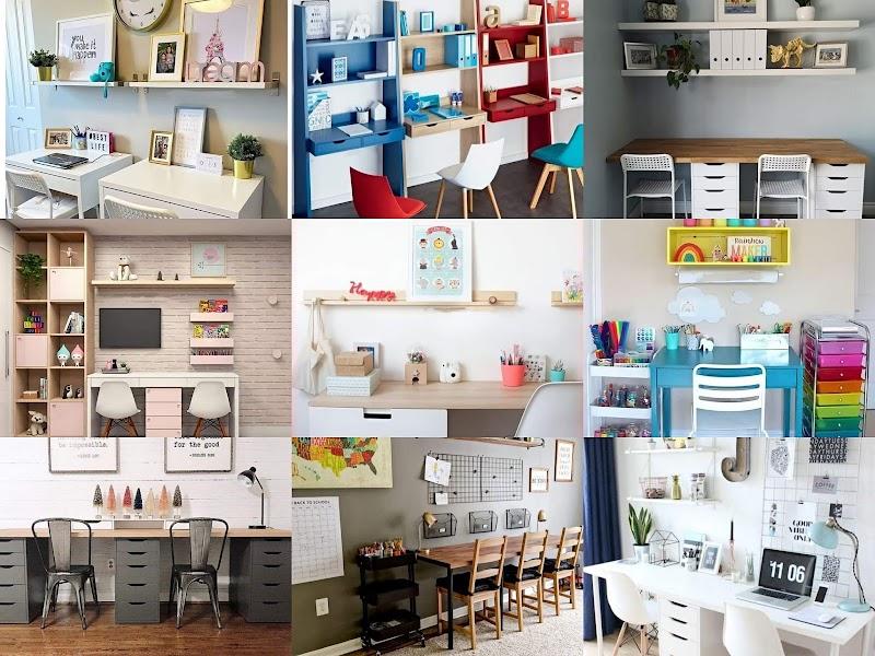 12 idea susun atur dekor ruang belajar anak-anak di rumah