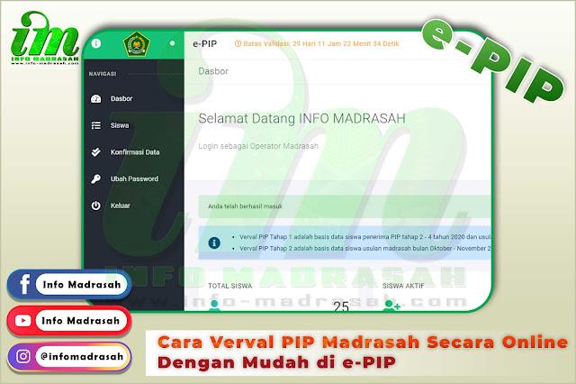 Cara Verval PIP Madrasah Secara Online Dengan Mudah di e-PIP